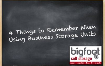 4 things to remember when using business storage units